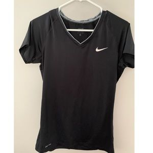 black nike pro dri fit workout shirt